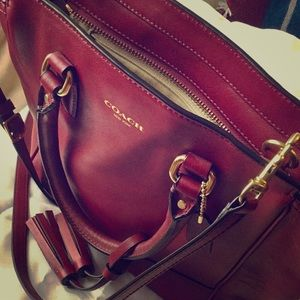 Band New Coach New York Leather Bag
